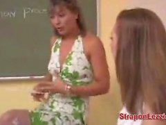 Lesbian Teacher Fingers Girls Ass
