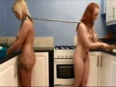 Hot Sex Slaves Making Dinner?