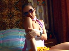 Naughty Ivana looks sexy in sunglasses