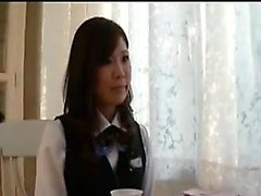 Sweet Japanese schoolgirl strips off her clothes and expose