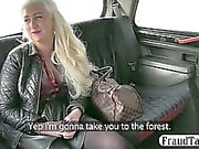 Insatiable mature amateur blonde gets busy with her taxi driver