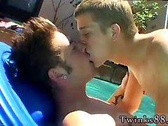 Подросток мальчишка пениса гимнастики шорт геи в первый раз Айден , Кейдена и Ша