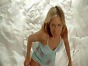 Blondie angel undress snatch in white