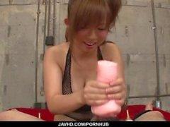 Serious POV Porn spielen kinky Konatsu Aozona