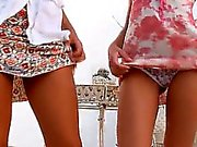 Two russian schoolgirls naked outdoor