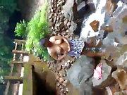 Srilankan kvinna Bath