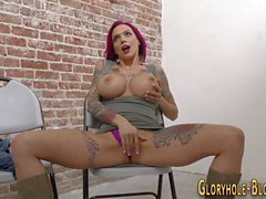 tattooed gloryhole babe big cock