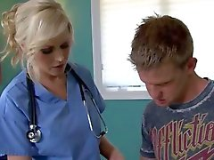 Sexy Blonde Doctor with Big Tits Fucks her Patient