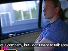 FemaleFakeTaxi Businessman strikes sexual deal with horny driver
