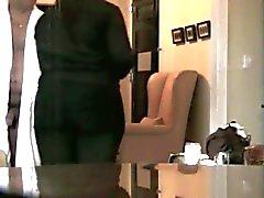 Parpadeo a la criada servicio de habitaciones