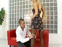 Tiffany de Rousso el pantyhose negro