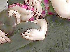 Serious pussy stimulation for busty Honami Uehara