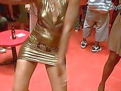ОЙ ! Club Gold Платье Юбкой Вспышка - = JRay513 = -