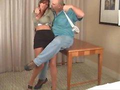 Christina carter in hotel room