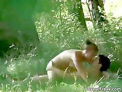 Een paar van het park voyeur webcam clip part3