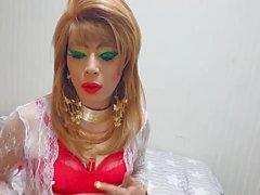 mariquita Niclo maquillaje atractivo maquillaje de ojos verdes