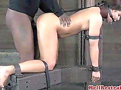 Bounded für BDSM Prostituierte Geilste Haken klatschte und