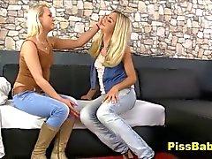 Lesbian Girls Peeing