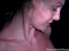 Sexy Brunette Real Gloryhole Compilation