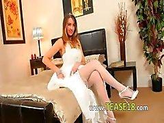 Calze bianche di Super caldi sexy di sposa