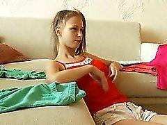 Beata adolescente comer galo enorme