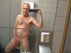 Dirty pervert grandpa peeing in airport and hotel