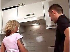 Another German MILF fucked in the kitchen