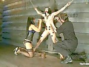 Asphyxia is tortured with electric and pegs