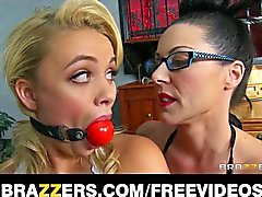 Kendra gets a lesson in femdom and strap-on anal