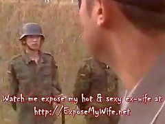 Voluptuous Army Lady