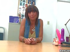 Perfect bodied MILF Lily Paige gets nude in the casting office