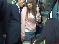 SW-311 Mini skirt plump ass in a crowded bus