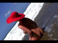 Jenny McClain on Wild Beach set