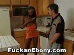Interracial Ebony Pussy Licked And Fucked