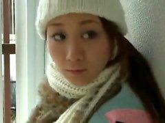 Japanische Teenager auf Voyeur cam
