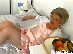 Naughty Granny Does A Striptease