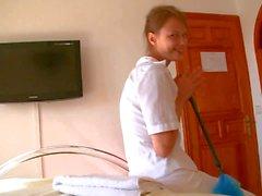 Tender Teen maid Beata taking dick