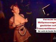 Annina Ucatis #En den Müllpresswagen frenar du Scheiss Transvestitenschwein