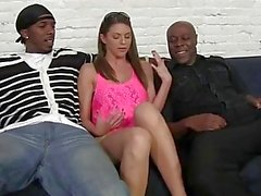 Brooklyn Chase Gangbangs Her Black Mechanics to Pay for Her Car