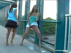 beautiful girls pissing