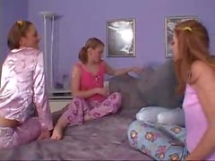 Girls Have A Wild Lesbian Slumber Party Orgy