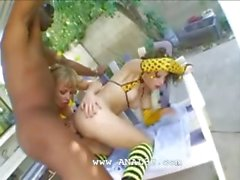 very bewitching group outdoor fucking