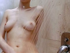 Bath day and peeing of busty schoolmate