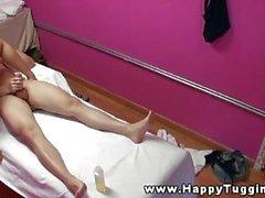 Biondi micio massaggiatore Asia scopata dal suo clienti
