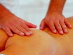 cocksucking blonde massaged before pussyfuck