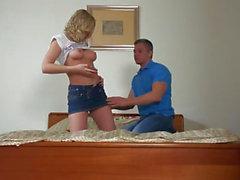 Amateur fuck on pretty blonde Lucys virgin plump butt