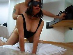 Pareja casada tener un coito BDSM