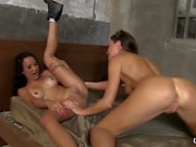 CHICAS LOCA - Outdoor lesbian sex with hot British and Latina babes