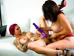 CrushGirls - Peta Jensen playing with toy with her girlfrien