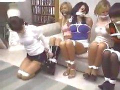5 Las niñas atado y amordazado Cleave